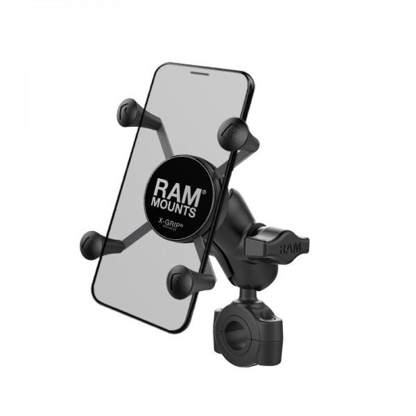 RAM X-Grip® Halter für Smartphones mit Rohrbefestigung 19-25mm - RAM-B-408-75-1-A-UN7U