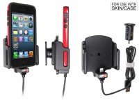 Brodit Halter - Apple iPhone 13 mini / 12 mini mit Hülle - USB-Kabel - 521502