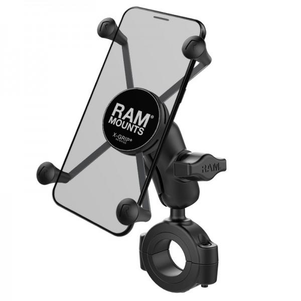 RAM X-Grip® Halter für große Smartphones mit Rohrbefestigung 29mm-38mm - RAM-B-408-112-15-A-UN10