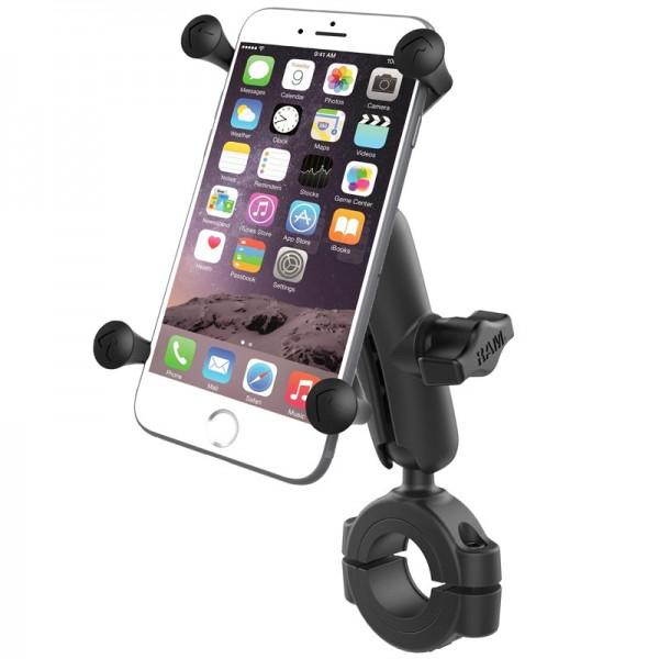 RAM X-Grip® Halter für große Smartphones mit Rohrbefestigung 29mm-38mm - RAM-B-408-112-15-UN10U