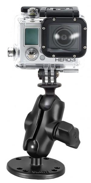 RAM Halterung mit runder Basis für GoPro Kameras - RAM-B-138-A-GOP1U