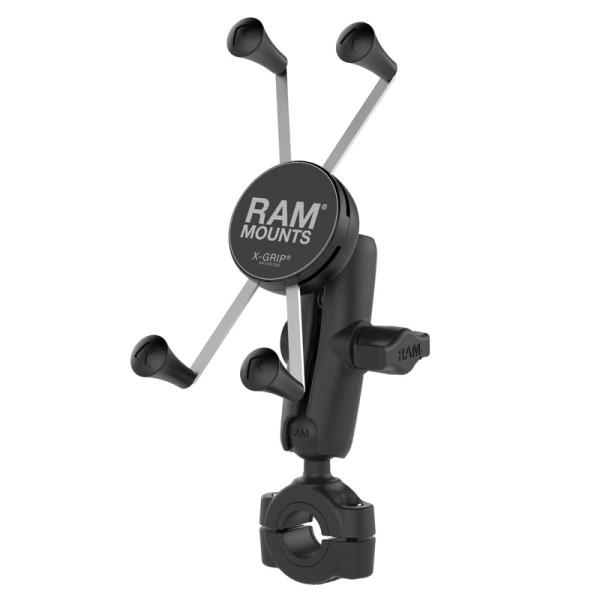 RAM X-Grip® Halter für große Smartphones mit Rohrbefestigung 19mm-25mm - RAM-B-408-75-1-UN10U