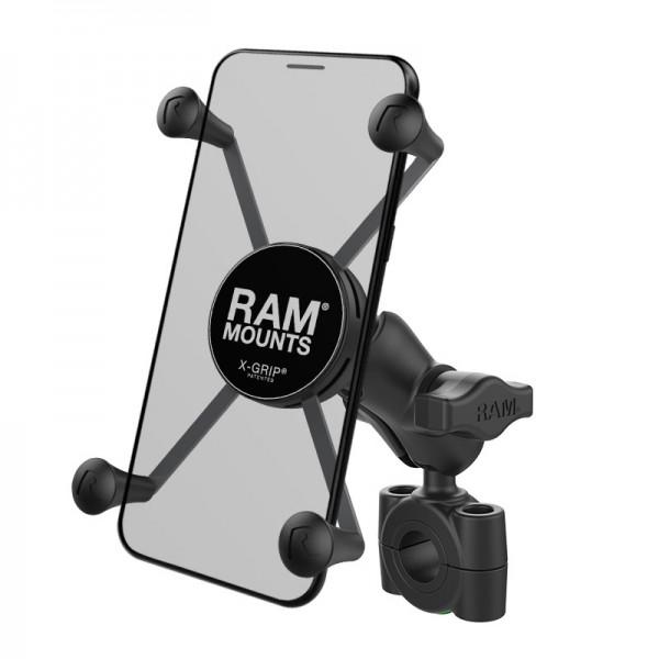 RAM X-Grip® Halter für große Smartphones mit Rohrbefestigung 19mm-25mm - RAM-B-408-75-1-A-UN10
