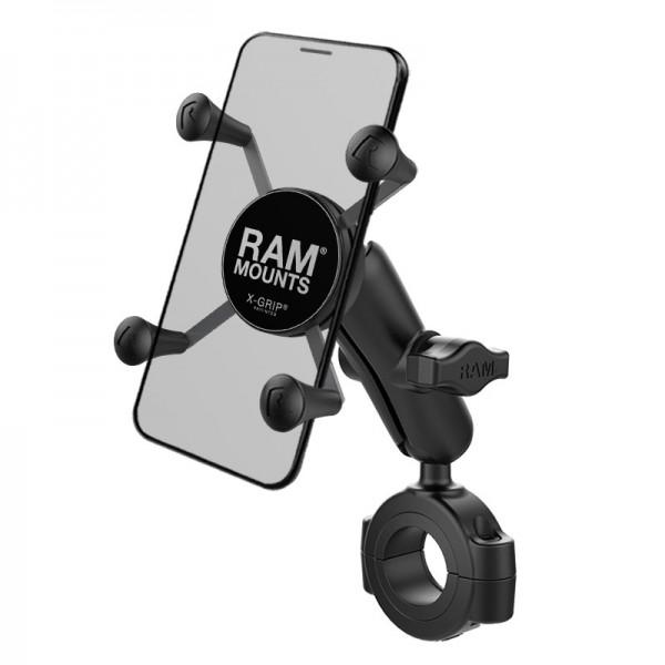 RAM X-Grip® Halter für Smartphones mit Rohrbefestigung 29mm-38mm - RAM-B-408-112-15-UN7U