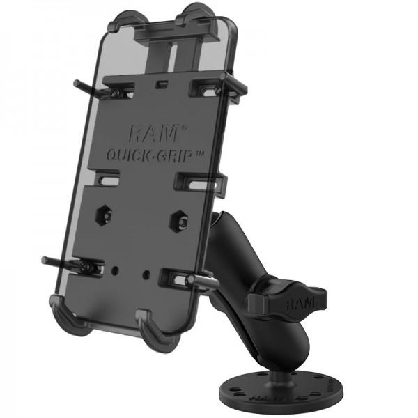 RAM Quick-Grip™ Halter für große Smartphones mit runder Basis - RAM-B-138-PD4U