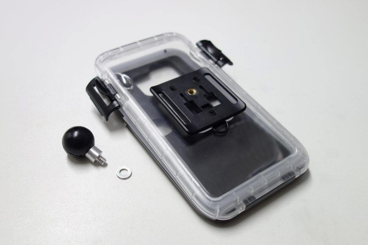 Spritzschutzbox und RAM Gelenkkugel mit Stativgewinde