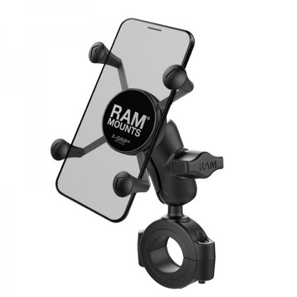 RAM X-Grip® Halter für Smartphones mit Rohrbefestigung 29mm-38mm - RAM-B-408-112-15-A-UN7U