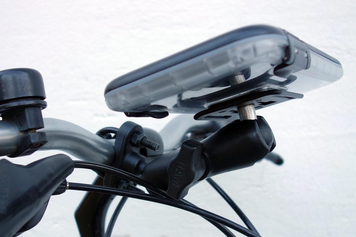 Spritzschutzbox am Fahrradlenker